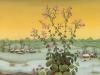 Josip Generalic, 1977, Flowers in winter, oil on glass, 46x35 cm