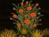 Josip Generalic, 1977, Flowers, oil on glass