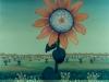 Josip Generalic, 1977, Sunflower, oil on glass