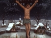 Ivan Generalic, 1990, Jesus on a cross, oil on glass