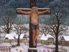 Ivan Generalic, 1992, Jesus on the cross, oil on glass