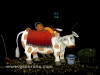 Josip Generalic, 1990, Thirsty cow, oil on glass