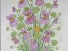 Josip Generalic, 1990, Violets, watercolour