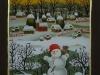 Josip Generalic, 1992, Little snowman, oil on glass