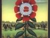 Josip Generalic, 1993, Red flower, oil on glass