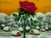 Josip Generalic, 1993, The rose, oil on glass