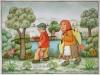 Josip Generalic, 1994, Return from fishing, watercolour, 40x50 cm 30x40 cm