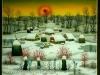 Josip Generalic, 1994, Winter with red sun, oil on glass