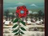 Josip Generalic, 1997, Winter flower, oil on glass