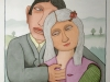 Josip Generalic, 1998, Couple in love, watercolour, 46x32 cm