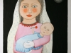 Josip Generalic, 1999, Happy child, watercolour, 69x43 cm