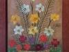 Mara Puskaric, 1970, Flowers, oil on chipboard, 35x26 cm - 1000 eur