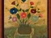 Mara Puskaric, 1971, Flowers, oil on chipboard, 35x32 cm - 1000 eur