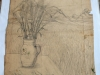 Ivan Generalic, Hay on a table, drawing, 78x67 cm