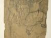 Ivan Generalic, Masquerade, drawing, 1968, 31x24 cm