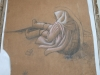 Ivan Generalic, Old woman, drawing, 100x74 cm