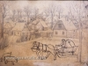 Ivan Generalic, paper with two drawings - Horse pulling wagon, 31x41 cm