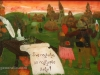 Drazen Tetec, 1992, oil on glass, Best wishes, 20x28cm - Price 400 eur