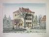 Josip Generalic, JG-L11-01 (Last one), Hlebine - Elementary school, water-coloured silkscreen, 36x51 cm 28x42 cm, 1987 - 400 eur