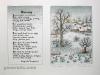 Josip Generalic JG-L17-03 Kesni sneg Late snow water-coloured serigraphy 53x38 cm 37x26 cm 1989 300,00 EUR