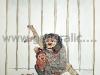 JG-K02-01 Combing a monkey