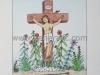 Josip Generalic JG-N02-01 Isus na križu Jesus on the cross water-coloured serigraphy 35x25 cm 24x18 cm 1991 170,00 EUR