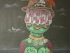 Josip Generalic, 1997, Green monster, pastel, 64x47 cm
