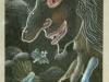 Josip Generalic, 2003, A witch, pastel, 16x9 cm