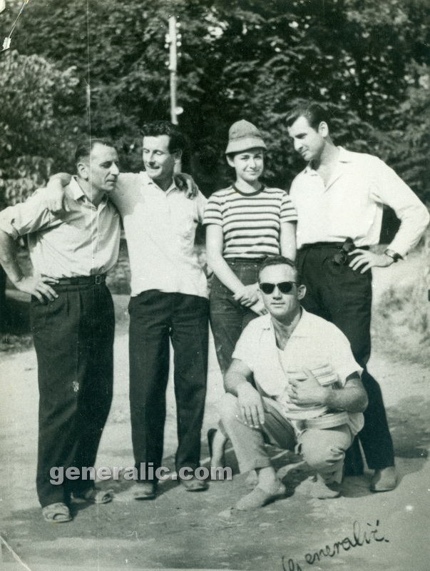 _580000 Ivan Generalic and Josip with Peter Townsend, Zagreb 1958