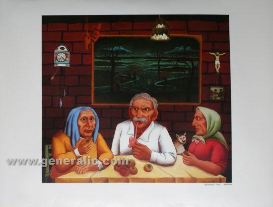 Ivan Generalic, Old people, reproduction, 1965, 52x69 cm 41x46 cm - Price 30 eur