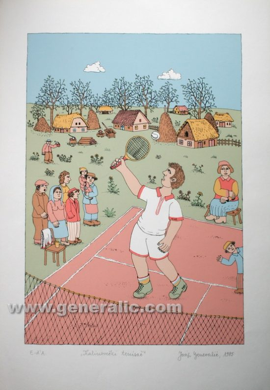 Josip Generalic JG-S14-01 Tenisaè Tennis player serigraphy in colour 49x34 cm 39x27 cm 1985 200,00 EUR