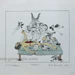 Josip Generalic JG-L44-01 Anxiety watercolored serigraphy 28x33cm 19x23cm =50 eur