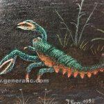 Ivan Generalic, Catfish (Som), 1992, pastel on paper, 50x36 cm detail 02