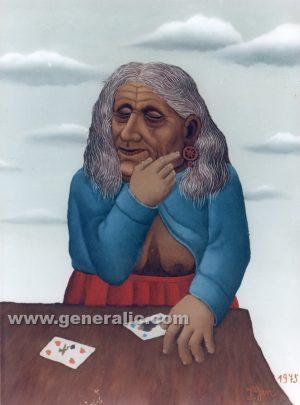 Ivan Generalic, Divination (Gatara), oil on glass, 97x75 cm, 1975 - Price on request