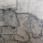 Ivan Generalic, 1963, Cows are resting, pencil on paper, 97x83 cm detail 06