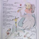 Josip Generalic, 1987, Ringlspil (05) - I verti se svet, silkscreen, 48x34 cm