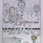 Josip Generalic, 1987, Ringlspil (09) - Zapraf, silkscreen, 48x34 cm