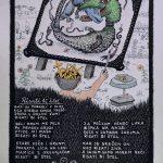 Josip Generalic, 1987, Ringlspil (13) - Risati bi stel, silkscreen, 48x34 cm
